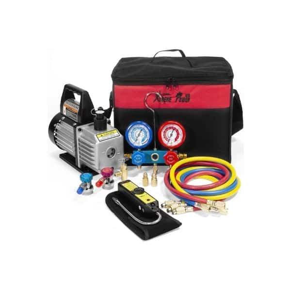 XtremepowerUS 71094 Vacuum Pump Refrigeration Kit (1)
