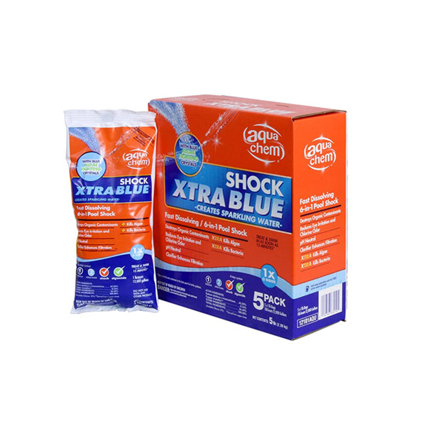 Aqua Chem 12101AQU-06 Xtra Blue Swimming Pool Shock